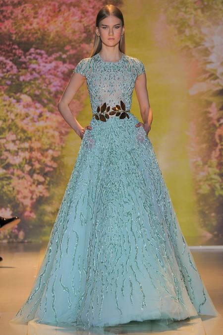 Dreamy, sparkly glamour: Zuhair Murad Spring 2014 couture collection ...
