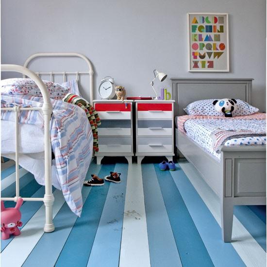 Photos Of Floors Striped Floor Childrens Room Mylusciouslife Jpg