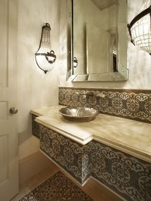 Moroccan-Bathroom-Design-white-wall-and-washbasin-and-chandelier-and-carpet-and-wooden-floor-and-door.jpg