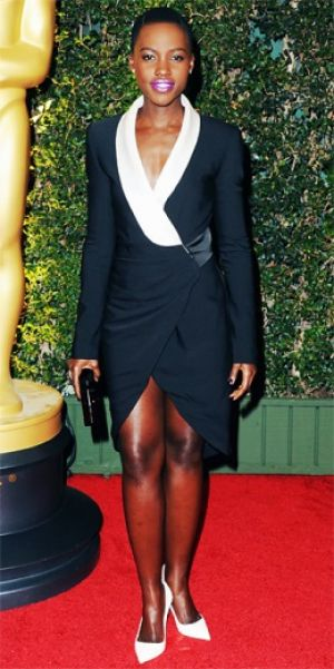 Oscars event-Lupita Nyongo - black and white dress.jpg