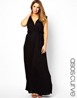 ASOS CURVE black Grecian maxi dress - plus size.jpg