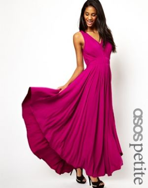 ASOS PETITE Exclusive Grecian Maxi Dress.jpg
