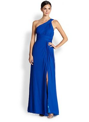 Aidan Maddox blue single-shoulder silk Grecian gown.jpg