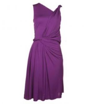 Gucci purple asymmetric deep drape dress.jpg