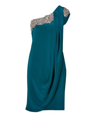 Marchesa crystal embroidered silk crepe one-shoulder dress in teal.jpg