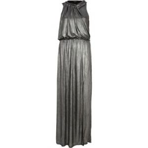 River Island silver draped sleeveless maxi dress.jpg