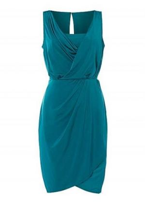 Untold green Grecian drape dress.jpg