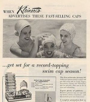vintage bathing suit - www.myLusciousLife.com - 1956 ad for swimming caps.jpg