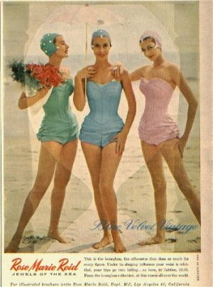 vintage beach photos - www.myLusciousLife.com - Rose Marie Reid swimwear.jpg