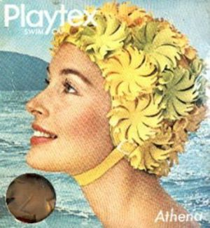 vintage swimming photos - www.myLusciousLife.com - yellow swim cap.jpg