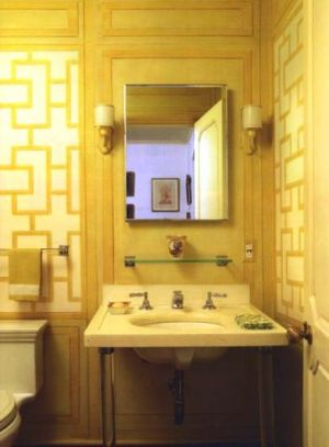 Bathroom - Bunny Mellon  upper east side pied a terre