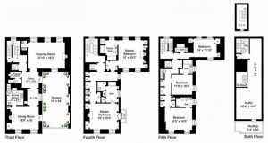 Mellon townhouse at 125 East 70th Street New York - floor plan