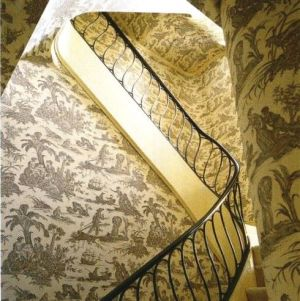 Staircase - Bunny Mellon NY home via World of Interiors