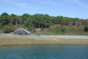 The former Cape Cod property of Paul and Bunny Mellon - beach shack