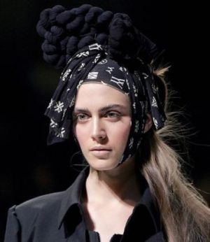 Headscarf from Japanese designer Yohji Yamamoto during the Autumn Winter 2007 2008.jpg