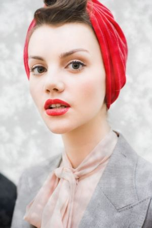 Luscious red headscarf - how to wear.jpg