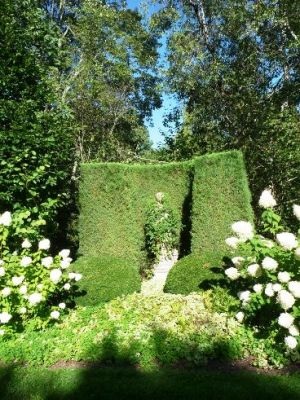 Photo by Oscar de la Renta of his gardens - Annette and Oscar de la Renta garden.jpg