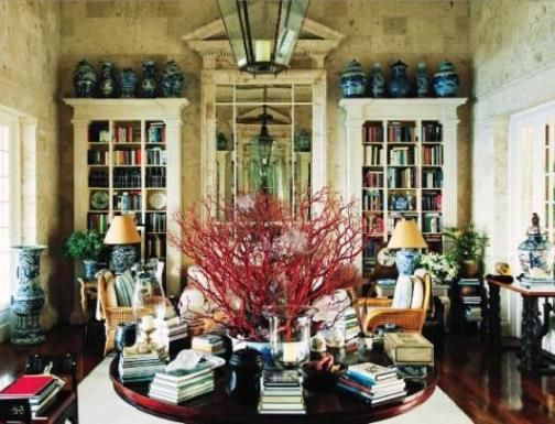 Famous folk at home annette and oscar de la renta in the for Oscar home
