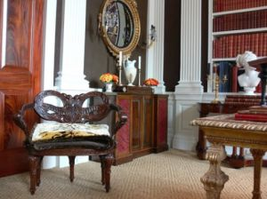 A reproduction chair from the Oscar de la Renta furniture line.jpg