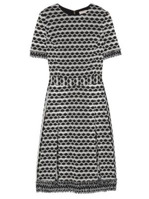 Tory Burch black and white geometric print dress worn by Kate Middleton the Duchess of Cambridge in NZ.jpg