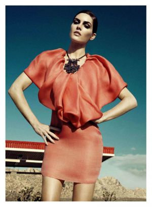 Pastels in fashion - myLusciousLife.com - Hilary Rhoda by Lachlan Bailey for Harpers Bazaar US June July 2011.jpg