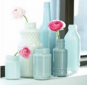 Pastels in home decor - myLusciousLife.com - luscious pastels - milk bottles vases.jpg