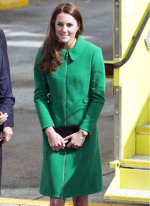 ROYAL TOUR - Kate Middleton wears a green coat from Erdem in New Zealand.jpg