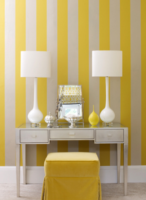 carolyn-barber_yellow-white-vanity - Fun and fabulous with stripes polka dots and pom poms - myLusciousLife.com.png
