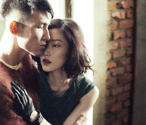 Asian models Du Juan and Zhang Guobin by Yin Chao for Vogue China 2013.jpg