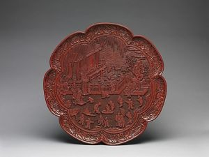 Asian lacquer plate red.JPG
