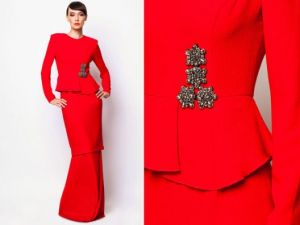 modern style asian dress kurung red.jpg