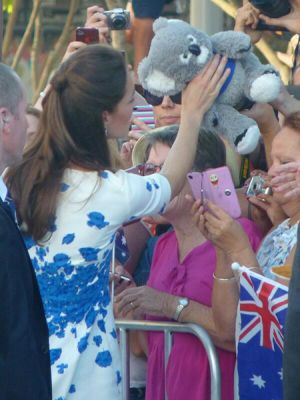 Duchess of Cambridge Kate during their visit to the Queensland city of Brisbane.jpg