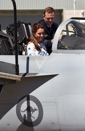 Kate Middleton the Duchess of Cambridge at RAAF Amberley - Australian royal tour.jpg