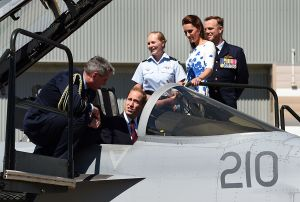 The Duke and Duchess of Cambridge at RAAF Amberley - Australian royal tour.jpg