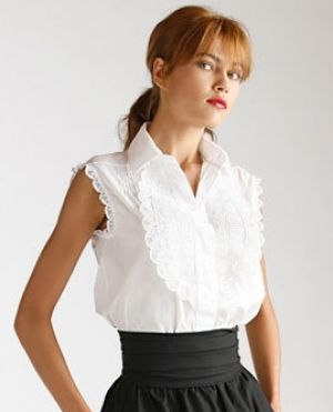Images of black and white - Fendi Sleeveless White Blouse.jpg