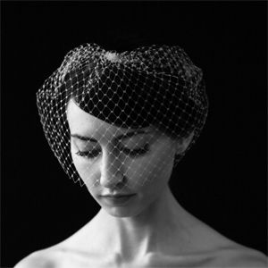 Images of black and white - Sara Gabriel Birdcage Veil.jpg
