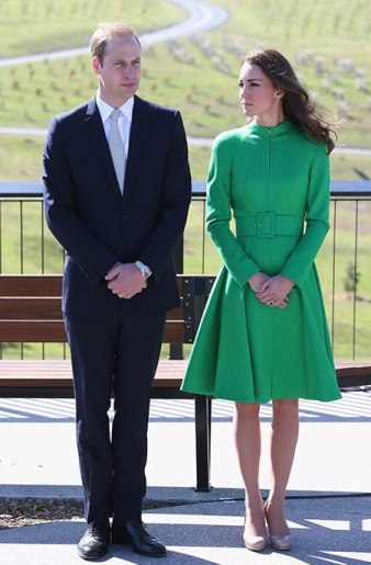 Royal Tour Kate Middleton In An Emerald Green Catherine