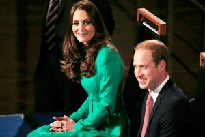 Kate Middleton wearing an emerald green Catherine Walker coat dress in Canberra - royal tour 2014.jpg