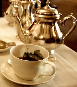 Afternoon tea with silver teapot - www.myLusciousLife.com.jpg