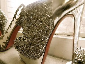 Glamorous silver spiky shoes - maybe louboutin.jpg