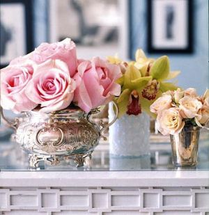 silver - Luscious silver vases of flowers.jpg