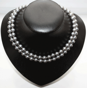 Double-Strand-Grey-Pearl-Necklace - pearl jewellery photos via mylusciouslife.png