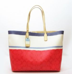 Coach Legacy Weekend Signature Painted Stripe Large PVC Tote.jpg