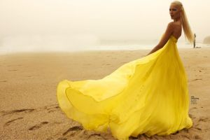 inspiration editorial photography yellow gown sea beach.jpg