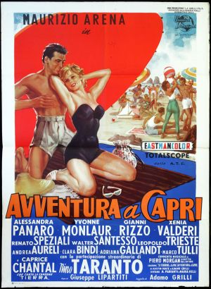 movies such as Avventura a Capri 1958 made the beach style of Capri famous in Italy.jpg