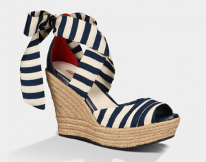 navy and white striped wedges by UGG Australia.png