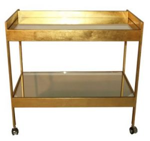 elegant bar carts - cocktails - roland gold leaf bar cart.jpg