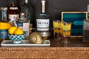 luscious bar carts - cocktail trays - bronze draper close up.jpg
