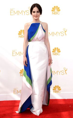Michelle Dockery in Rosie Assoulin - Emmys 2014 red carpet photos.jpg