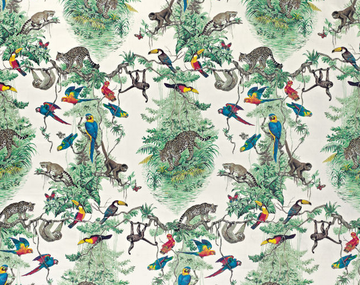 Luscious loves hermes for Childrens jungle print fabric